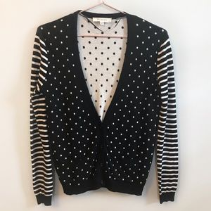 Two by Vince Camuto Polka Dot Cardigan